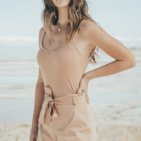Nude Scallop Shorts