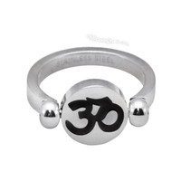 Yin Yang Om Flip  Ring on Sale for $12.95 at HippieShop.com