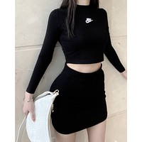 NIKE hot sale new ladies sexy casual sports suit