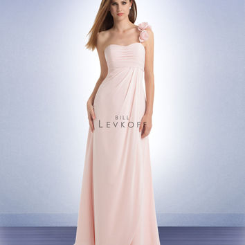 Bill Levkoff Long Chiffon Bridesmaids Dress 737