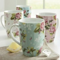 Mugs, Chintz Set of 4 from Through the Country Door®