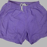 "Nylon Lifeguard Swim Trunk 5"" 3-Pocket SMALL Purple Mens Swimsuit/Active Short"