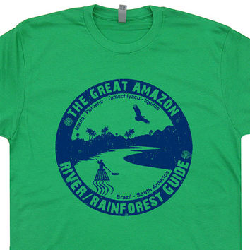 Amazon River Guide T Shirt Kayak Canoe Tee Shirt Canoeing Kayaking Brazil T Shirt mens / womens T Shirt