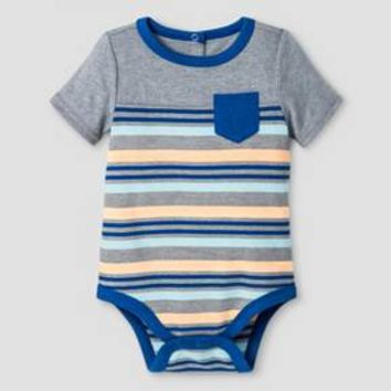 Baby Boys' Striped Bodysuit Cat & Jack™ - Gray