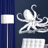 Wall Decal Octopus Tentacles Fish Deep Sea Ocean Animals Vinyl Sticker Decals Home Decor Art Bedroom Design Interior C95