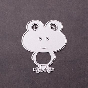 2017 New Metal Cutting Dies Stencil 65X45MM Customized frog Design Embossing Dies DIY Scrapbooking Album Craft dies