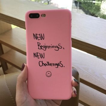PINNK New Beiginnings Printed Cover Case For Iphone 7 7Plus & 6 6s Pus &5 5s