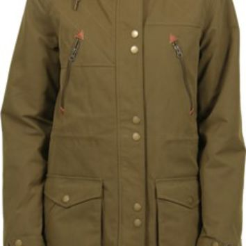 Volcom Walk On By Parka Jacket - lentil green - Women's > Women's Clothing > Women's Jackets