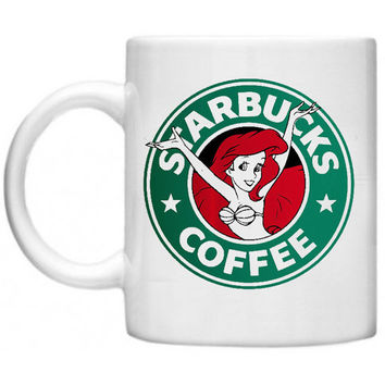 Starbucks Coffee Ariel Little Mermaid Ceramics Mug - Made To Order