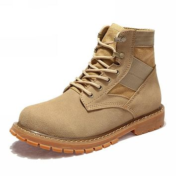Casual Ankle Leather Working Safety Boots