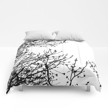 Zebra Branches Comforters by UMe Images