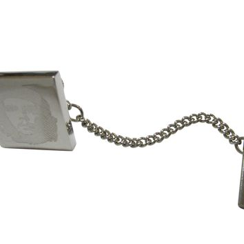 Silver Toned Etched Che Guevara Tie Tack