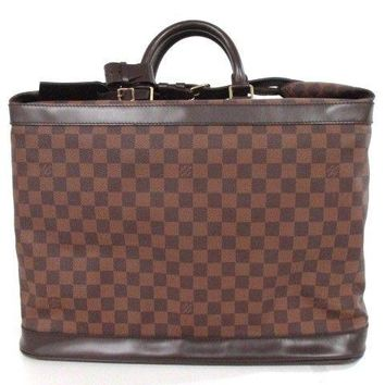 Auth LOUIS VUITTON Grimaud N41160 Ebene Damier Canvas SP0014 Boston Bag