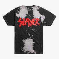 Slayer Logo Bleach Wash T-shirt