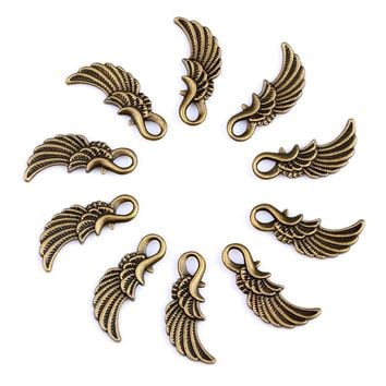 20 Pieces Guardian Angel Wing Charms Findings for Jewelry Pendants Necklace Making 25mm X 10mm
