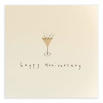 Happy Anniversary Fizz Pencil Shavings Card