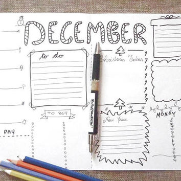 december bullet journal monthly bujo journaling calendar planner addict organize list agenda organizer notebook download lasoffittadiste