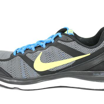 Nike Men's Dual Fusion Run 3 Black/Volt Running Shoes 653596 074