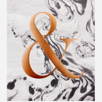 Marble Ampersand Print