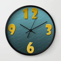 Big number clock Wall Clock by Andulino