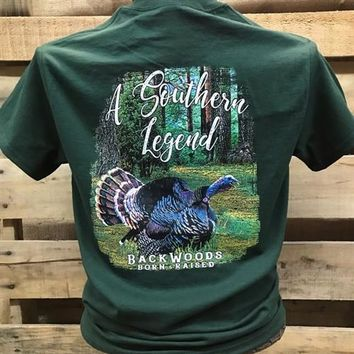 Backwoods Born & Raised Southern Legend Turkey Unisex Bright T Shirt