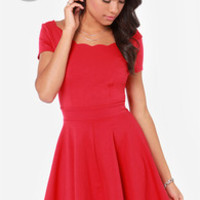 LULUS Exclusive Stun House Red Dress