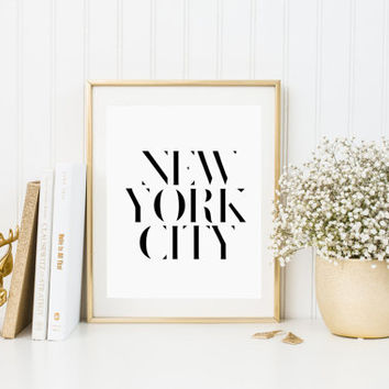 New York City Typography Print New York Print New York Poster New York Gift New York Art New York Pride New York City New York Decor POSTER