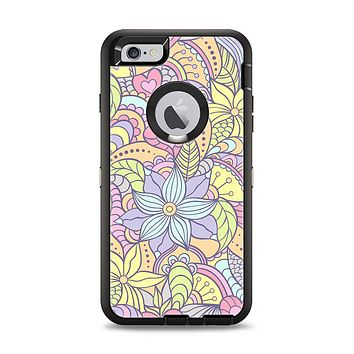 The Vibrant Color Floral Pattern Apple iPhone 6 Plus Otterbox Defender Case Skin Set