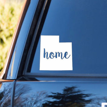 Utah Home Decal | Utah Decal | Homestate Decals | Love Sticker | Love Decal  | Country Decal | Preppy | Car Decal | Car Stickers | 136