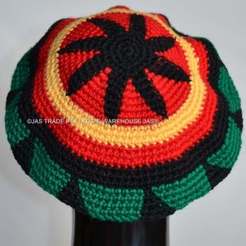 Punk Jamaica Reggae Knitted Hat Hip Hop Rasta Friendship Bob Marley Style Fashion Beret Cap Black Yellow Red Green Colors