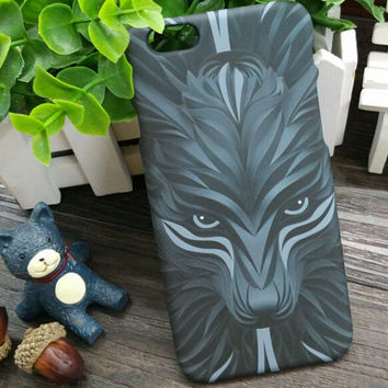 So Cool Luminous 3D Wolf Case Cover for iPhone 5s 6 6s Plus Gift 3