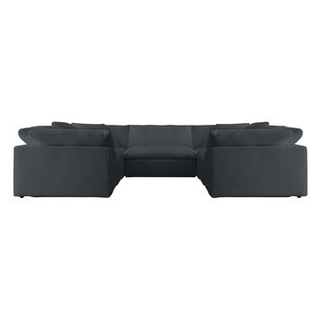 TAG by Tandem Arbor Dey 5-Seat U-Shape Sectional Set (5 PC) - Dark Grey
