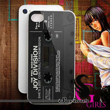 Joy division casette for iPhone 4/4S, 5/5S, 5C and Samsung Galaxy S3, S4 - Rubber and Plastic Case