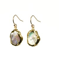 Kieshi Pearl Earrings edged with 24k gold