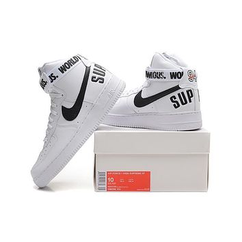 Originals Nike AIR FORCE One 1 HIGH SUPREME SP AF1 HI Running Sport Casual Shoes 698696 Sneakers