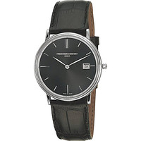 FC-220NG4S6 stainless steel and leather watch