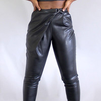 Leatherette Crop