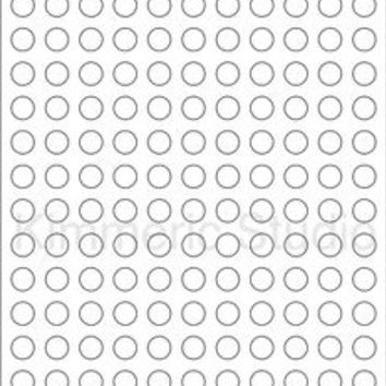 "6 SHEETS  1/2"" ROUND CIRCLE BLANK WHITE STICKERS LABEL~MATTE FINISH"