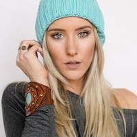 Cotton Candy Knitted Beanie