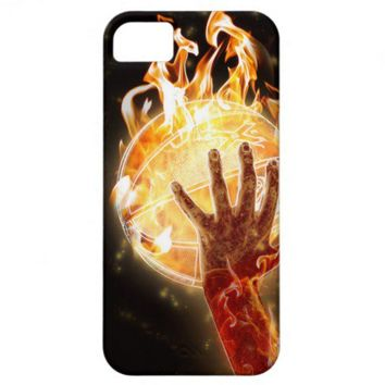 Basketball on Fire iPhone 5 Case