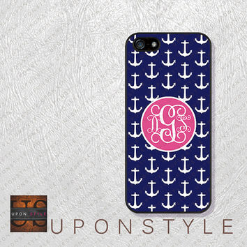 Phone Cases, iPhone 5S Case, iPhone 5 Case, iPhone 5C Case, iPhone 4 case, iPhone 4s case, Navy Anchor, Case for iphone No-5D0003