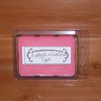 Endless Weekend Type Soy Wax Break Away Tart