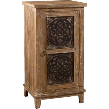 5727 Toulon Accent Cabinet - Distressed Beige Finish - Free Shipping!