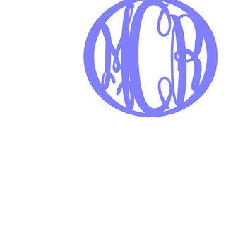 Your choice Framed Keepsake Monogram Decal