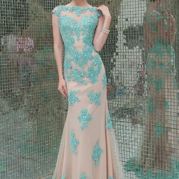 Real Dress E2015 Special Offer Scalloped Vestido Para Madrinha Free Shipping New Custom Size Long Mermaid Prom Bridesmaid Gown