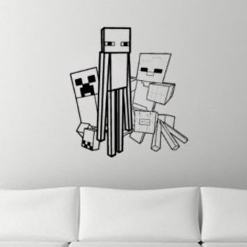 Minecraft Inspired Wall Decal The Mob