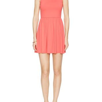 Amy Pleated Fit & Flare Dress