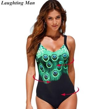 New One Piece Swimsuit Women Vintage Brazilian Plus Size Swimwear Print Bathing Suit Beach Wear Monokini Maillot De Bain Biquini