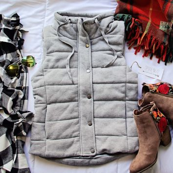 Stadium Cloth Vest in Gray