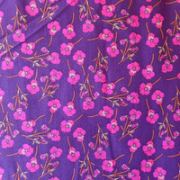 Liberty Art Fabrics Tana Lawn Cotton Ros Fuchsia Pansies on Purple Floral Print per Half Yard